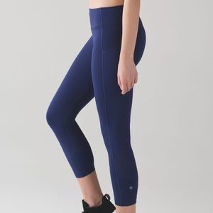 "Lululemon |  Pace Rival Crop (22"") Leggings 4 Blue"